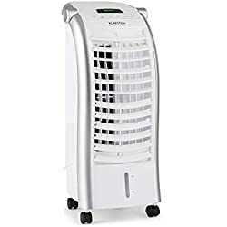 Klarstein Maxfresh WH Snowline • Rafraîchisseur d'air • Ventilateur • 3 Modes de Ventilation • 3 Niveaux de Puissance • Commande des hélices • Télecommande • Ecran LED • Blanc