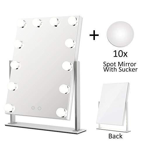 ElectriBrite Schminkspiegel mit Beleuchtung - Beleuchtete Kosmetikspiegel mit dimmbaren LED,...