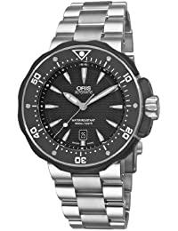 Oris Men's 73376467154-0782671PEB Titanium with Black Dial Watch