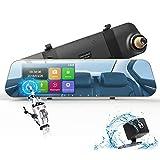 """DuDuBell Rückspiegel Kamera Dashcam Autokamera mit RückfahrkameraFull HD 1080P Dual Lens 4,3"""" Touchscreen"""