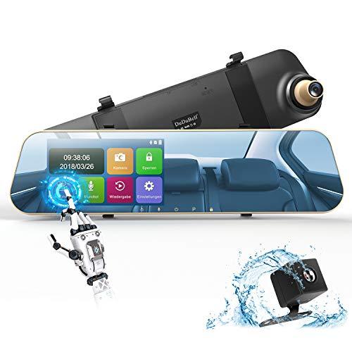 "DuDuBell Dashcam Autokamera 1080P Rückspiegel Monitor mit Rückfahrkamera Dual Lens 4,3"" Touchscreen 170° Weitwinkel G-Sensor Loop-Aufnahme Parküberwachung Bewegungserkennung"