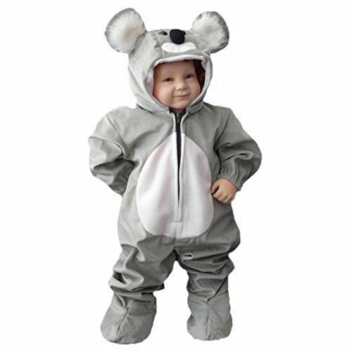 Koala-Bär Kostüm, J42 Gr. 80-86, für Klein-Kinder, Babies, Koala-Kostüme Koalas Kinder-Kostüme Fasching Karneval, Kinder-Karnevalskostüme, Kinder-Faschingskostüme, Geburtstags-Geschenk