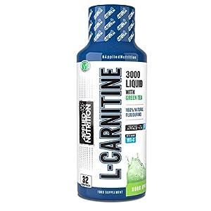 41dKR PnL0L. SS300  - Applied Nutrition L-Carnitine Liquid 3000 + Green Tea 480 ML Tangy Orange