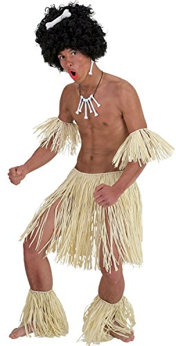 Mens Hawaiian Hula Zulu Warrior Stag Do Party Night Fancy Dress Costume Outfit (One Size) (Mens Hawaiian Fancy Dress Kostüm)