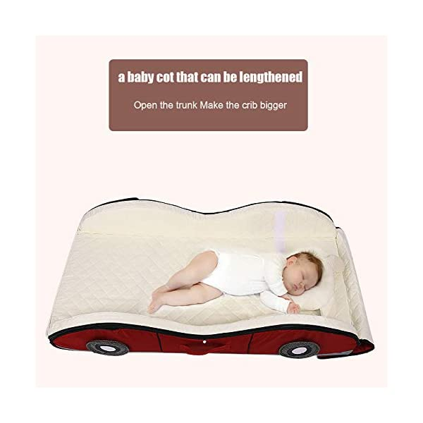 YANGGUANGBAOBEI Car Travel Crib,Breathable And Hypoallergenic Sleep Nest Newborn Lounger Pillow - Infant Toddler Cradle Multifunction Storage Bag,Red YANGGUANGBAOBEI ❤ [Safety material]:Our baby Mosquito net tents bed use certified non-toxic,lead free, baby safe material.breathable translucent mesh keeps parent easy view of your baby while keeps the air flowing and your baby dry,It is better for 0 -18 month baby ❤ [Save space]: Pop Up Baby Tent can be folded up nice and tight, making it so easy to put inside your backpack and bring it along to wherever you and your baby go. Take it to the park, the beach, a soccer Game, or simply in the living room for day-to-day use ❤[ tent]:Self-expanding screen tent that can be popped open and folded back down in seconds, two way zipper enable quick and convenient access to your baby inside the tent. 6
