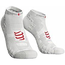 Compressport Calcetines Pro Racing Socks V3.0 Run High Smart Blanco - T4