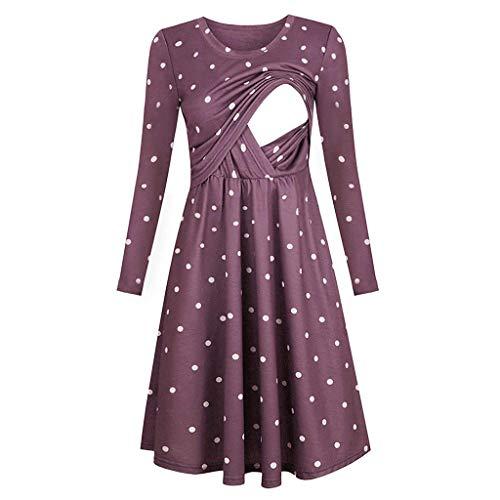LIMITA Stillen Kleidung Stillen Pullover Stillen Tops Stillen BH Umstandskleider Schwangere Stillkleider Einfarbige Schwangere Kleider