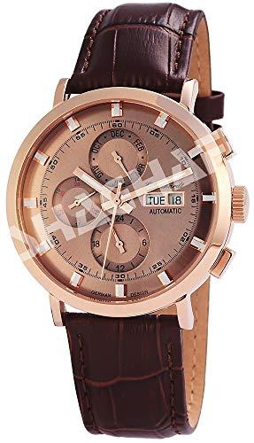 Engelhardt Herren Analog Mechanik Uhr mit Leder Armband 388231529007