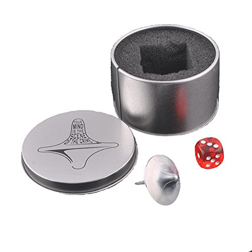 Gaxen Inception Totem Zinklegierung Silber Kreisel präzise Replica Würfel & Geschenkbox