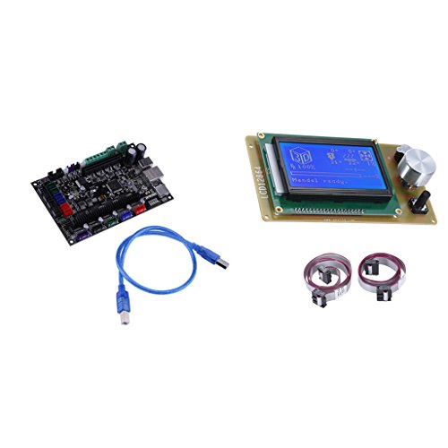 MagiDeal 3D-Drucker Steuerplatine MKS SBASE V1.3 32-Bit-Motherboard + 12864 LCD-Bildschirm Smart LCD Controller (32-bit-lcd)