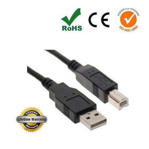 Epson-scanner-kabel (imbaprice lang USB 2.0Drucker und Scanner Kabel für Epson Expression Home xp-310xp-400xp-410XP-600, Workforce 2530WF-2540. 3520wf-3540Drucker–SCHWARZ schwarz schwarz 6 Feet)