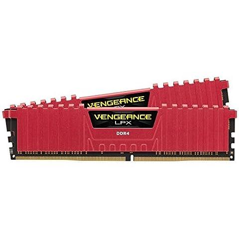 Corsair Vengeance LPX - Módulo de memoria XMP 2.0 de alto rendimiento de 8 GB (2 x 4 GB, DDR4, 3000 MHz, CL15), rojo (CMK8GX4M2B3000C15R)