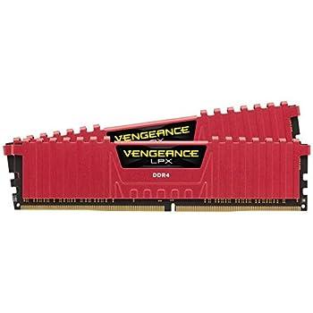 Corsair Vengeance LPX - Módulo de memoria XMP 2.0 de alto rendimiento de 16 GB (2 x 8 GB, DDR4, 3000 MHz, C15), rojo (CMK16GX4M2B3000C15R)