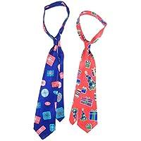 STOBOK Corbata de Navidad decoración de Corbata Creativa Hermosa impresión Corbata Regalo para niños 2pcs
