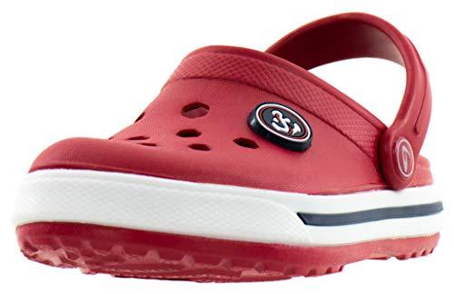 Zuecos Beppi para Niños - Mujeres - Zapatos para el Hogar, el Jardín y el Ocio Rojo