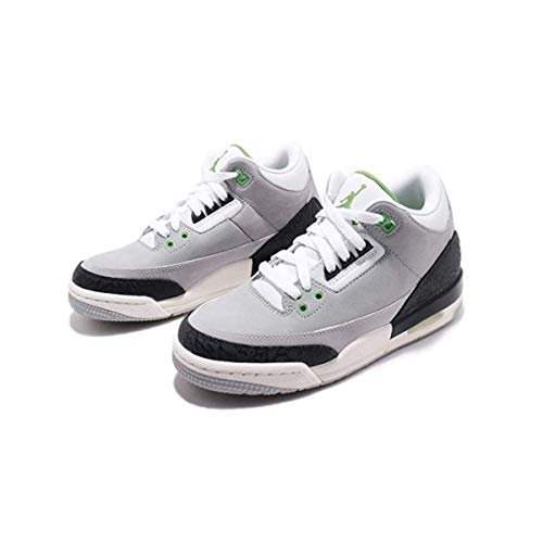 Nike Herren Air Jordan 3 Retro (gs) Fitnessschuhe, Mehrfarbig (Lt Smoke Grey/Chlorophyll/Black/White 006), 40 EU - Air Jordan 3 Retro