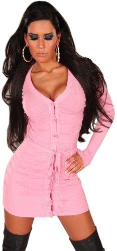 instyle-robe-crayon-uni-manches-longues-femme-taille-unique-rose-taille-unique