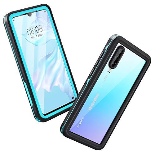 Azul Mishcdea Funda Huawei P20 Pro Impermeable Cubierta Resistente de Cuerpo Completo con Protector de Pantalla Incorporado para Huawei P20 Pro