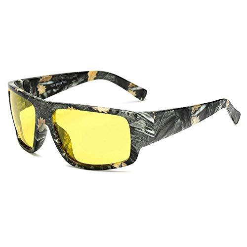 YSA Sonnenbrille Camouflage Polarisierte Sonnenbrille Herren 'S Square Driving Sonnenbrille Nachtsichtbrille Herren' S Uv400 Brille