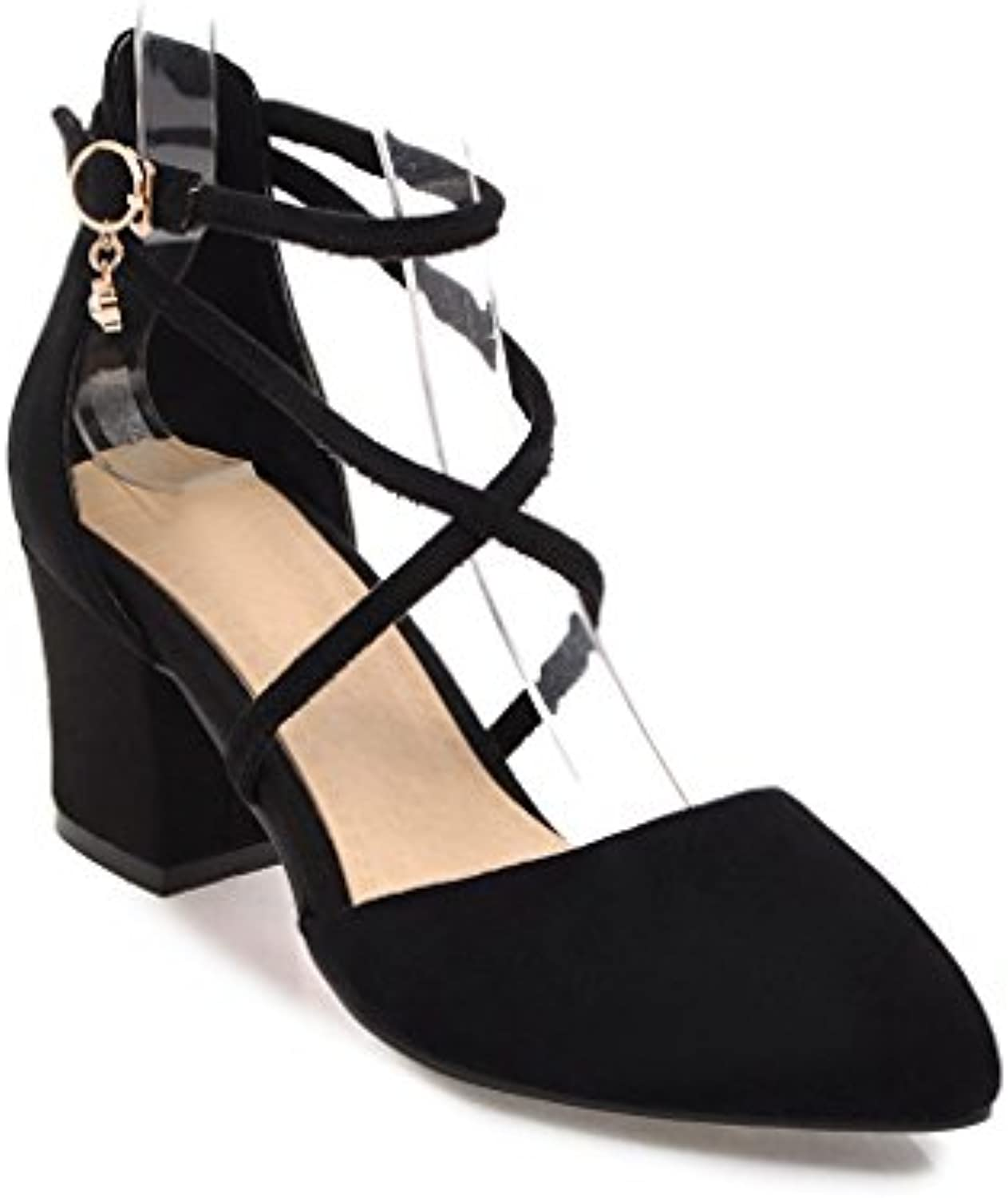The thick comfortable size with high-heeled sandals, black hollow women,35
