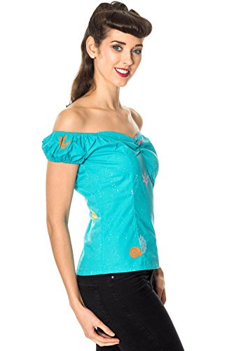 Dancing Days by Banned Top SOPHIA 1207 blue Blue