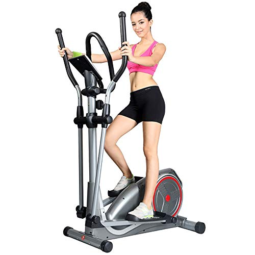 HUDEMR Elliptical Machine Exerpeutic Aero Air Ellittica Crosstrainer for Home Fitness Cardio Workout Argento Aerobico Cyclette (Color : Silver, Size : Free Size)