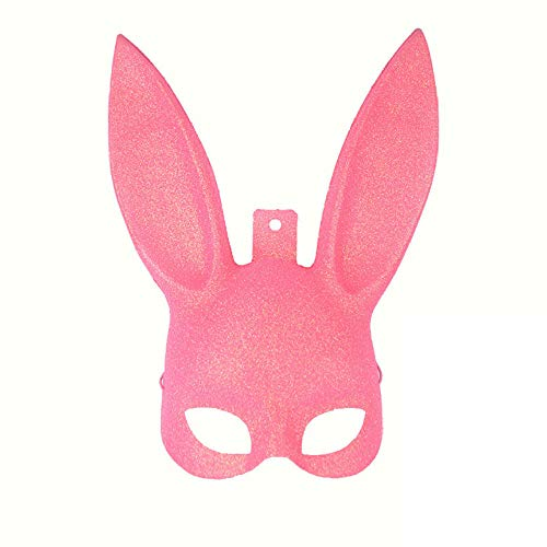SNHWARE Halloween Maske Kostüm Party Dress Up Cosplay Bunny Maske Langes Ohr Halbe Gesichtsmaske Dekoration