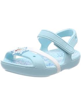 Crocs Lina Frozen Sandal Kids, Sandalias de Punta Descubierta para Niñas