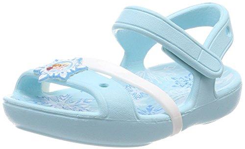 Crocs lina frozen, sandali a punta aperta bambina, blu (ice blue), 24/25 eu