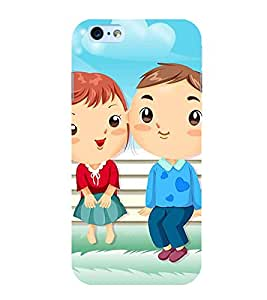 FIOBS boy and girl cute love crazy loving laughing couple Designer Back Case Cover for Apple iPhone 6S