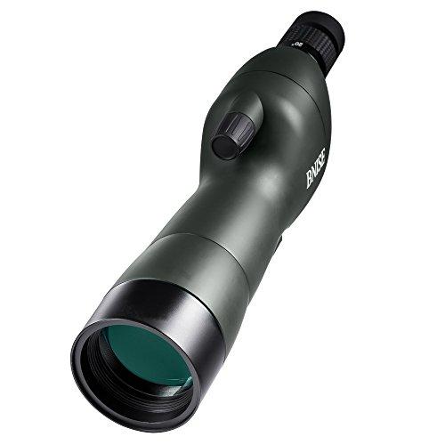 BNISE Spektiv Vogelbeobachtung, 20-60x60 Zoom und wasserdicht, FMC Optik, nebenher mit dem Dreifuß der Unterstützung, Photographie, Klammer des Handys, Klammer der Kamera, Truppeneinheit- grün