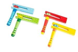 Small Foot 10693Colorido Madera ratcheta en Cuatro diseños Diferentes, Popular de los niños Instrumento y Ideal para en el IR