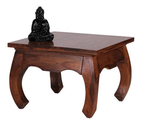 Cheap Wohnling WL1.221 Sheesham Coffee Table 60 x 60 cm Opium Form Solid Wood Reviews