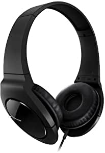 Pioneer SE-MJ721-K dynamischer Kopfhörer mit leistungsstarker Basswiedergabe für echtes Club-Feeling (1000 mW Max. Belastbarkeit, 3,5-mm-Stereo-Klinkenstecker) schwarz
