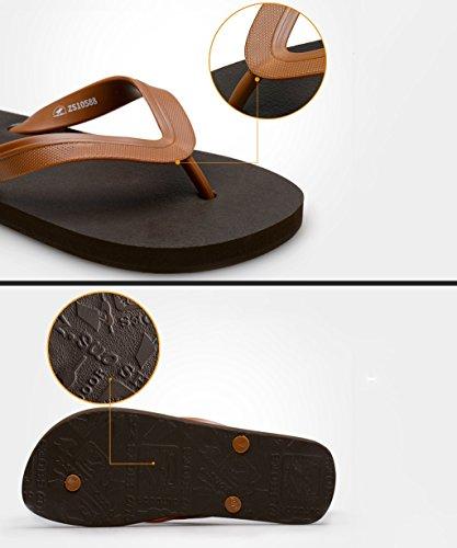 CHAOXIANG Pantofole Piatte Flip Flop EVA Toe Post Sandali Da Surf Nuovo Calzature Da Spiaggia Estiva ( Colore : Blu , dimensioni : EU41/UK8/CN42 ) Marrone