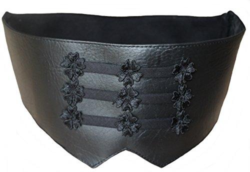 SIS SIS Herren Kummerbund mit elastischem Rückenteil Schwarz Kunstleder