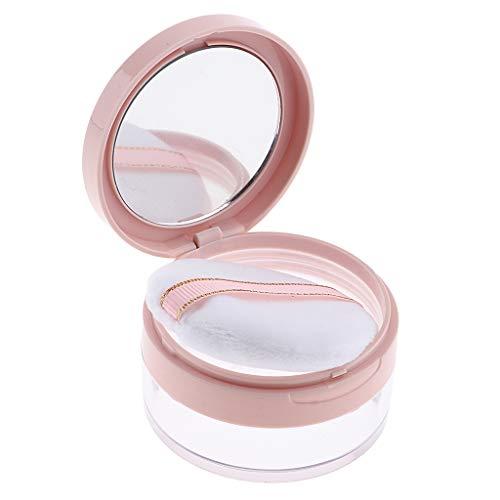 B Baosity Leere Lose Pulver Dose Gesichtspuder Make-Up Kosmetikdose Container mit Puderquaste, 20g -...