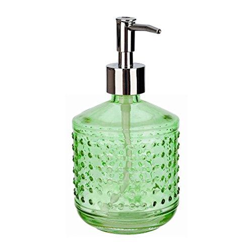 Rail19 Hobnail Glas Liquid Hand Seifenspender Pumpe für die Küche und Waschbecken-erhältlich in Grau/Schwarz, Gold, Aqua Blau, Blau, Violett und Grün 16 oz grün