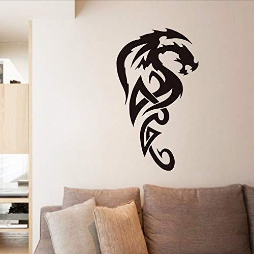 Waofe tribal royal dragon wall stickers vinile rimovibile carta da parati impermeabile arte della decalcomania del vinile soggiorno divano sfondo home decor 44 * 75 cm
