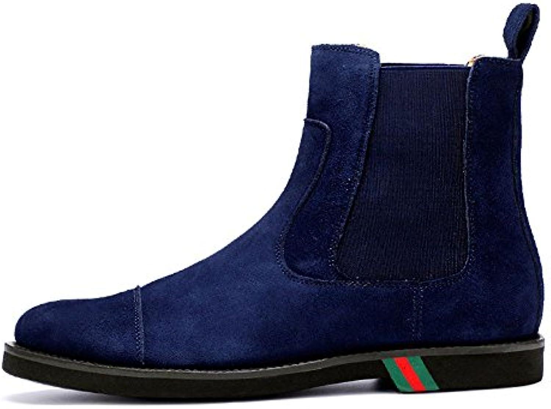 Chelsea moda di scarpe da uomo stivali alti scarpe casual lucidare gli stivali di pelle,blu,quaranta e otto | Qualità primaria  | Scolaro/Ragazze Scarpa