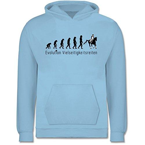 Shirtracer Evolution Kind - Vielseitigkeitsreiten Evolution - 7-8 Jahre (128) - Hellblau - JH001K - Kinder Hoodie