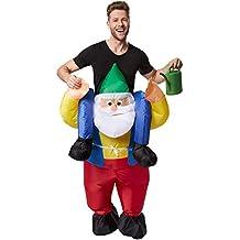 dressforfun Disfraz montado en enano inflable adulto | Funciona con pilas | Máxima libertad de movimiento