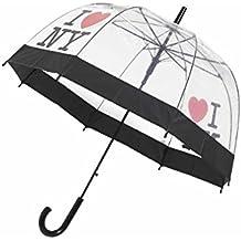 Parapluie long cloche ouverture automatique - I love New York édition - transparent - Neyrat