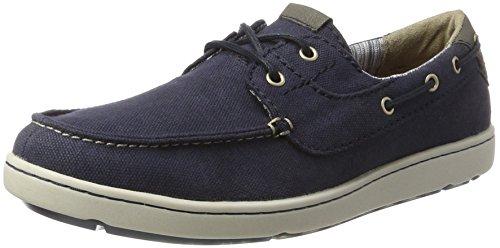 Rockport Herren Gryffen 2-Eye Boat Shoe Bootschuhe Blau (Navy Canvas)