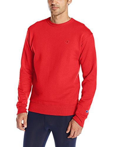 champion-sweat-shirt-manches-longues-homme-rouge-small