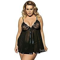 fa5a691fc Yummy Bee Lingerie Plus Size 6-30 Babydoll Nightwear Set Women Chemise  Sleepwear