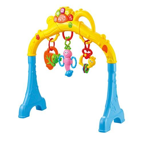 Yeahibaby palestrina palestra per neonato bambini bimbi giocattoli neonati prima infanzia apprendimento precoce (blu, senza batteria)