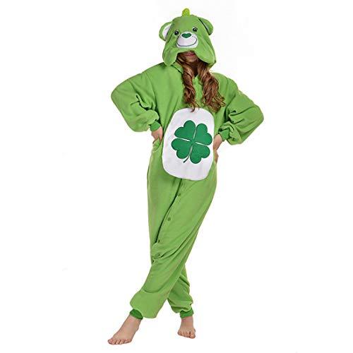 DUKUNKUN Erwachsene Pyjamas Bär Pyjama Kostüm Grün Cosplay Für Tier Nachtwäsche Cartoon Halloween Festival/Urlaub/Weihnachten,M (Bären Weihnachten Kostüm)
