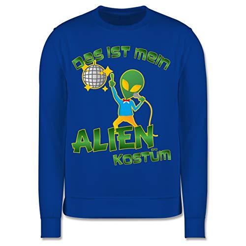 Karneval & Fasching Kinder - Das ist Mein Alien Kostüm Disco - 3-4 Jahre (104) - Royalblau - JH030K - Kinder Pullover (Kleinkind Disco Kostüm)