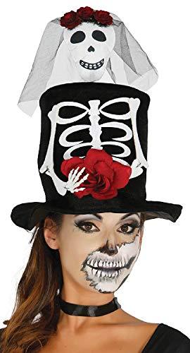 Fancy Me Damen Skelett Braut-Top Hut Halloween